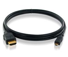 ハイスピードHDMI ⇔ HDMIマイクロケーブル